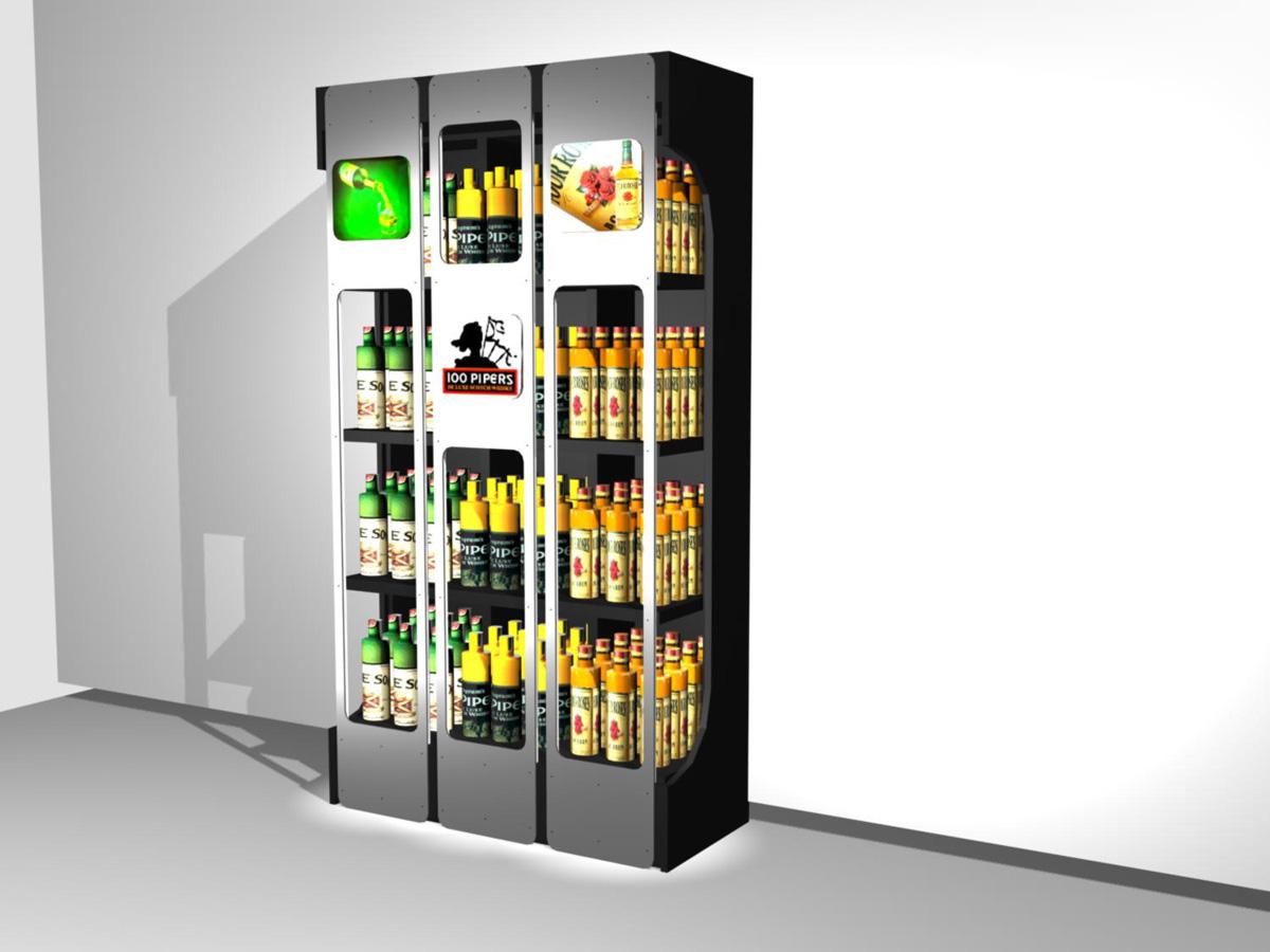 Expositores dise o espacios comerciales caad shop - Diseno espacios comerciales ...