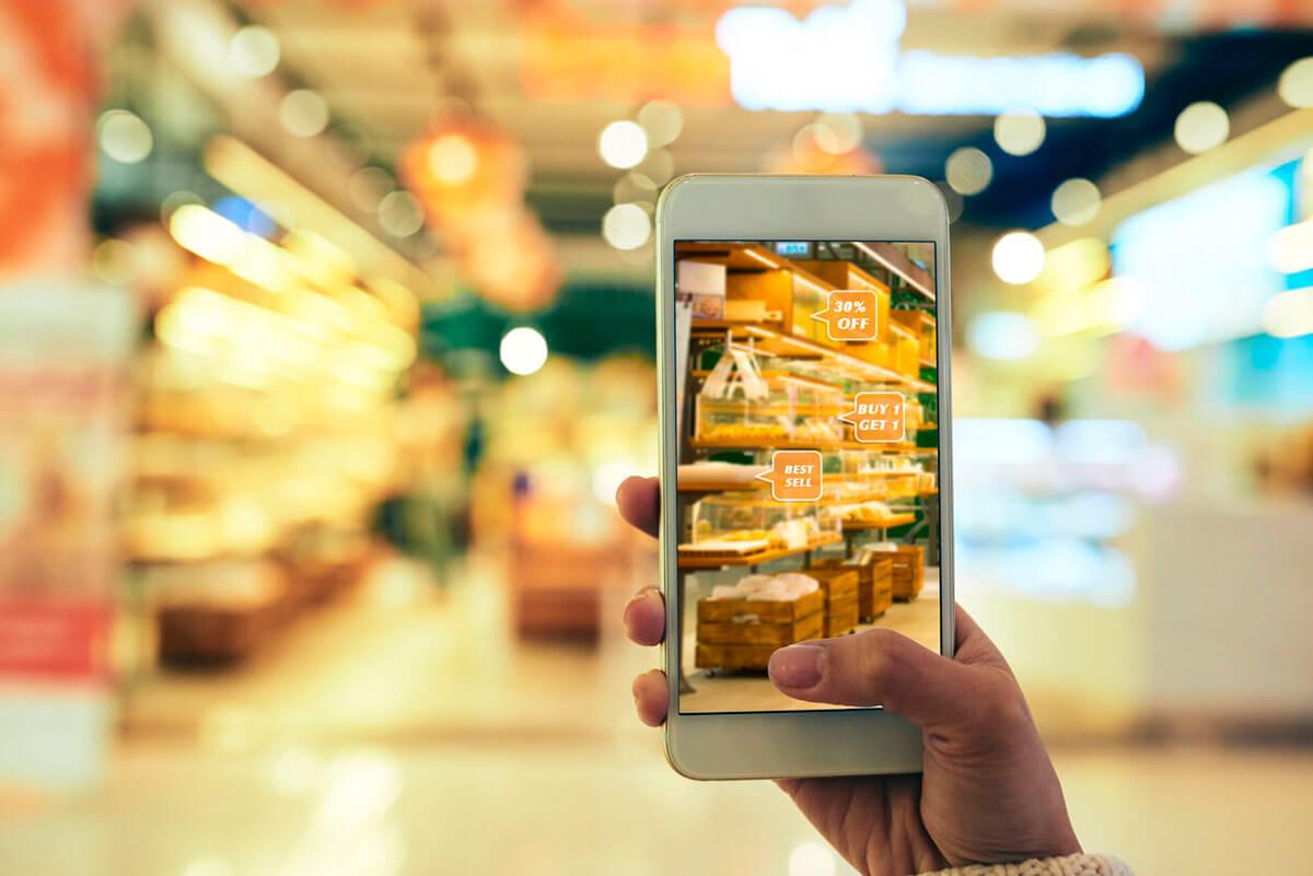 Realidad Aumentada en Retail | captura móvil de descuentos en lineal de supermercado